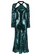 Diagonal Stripe Sequin Dress