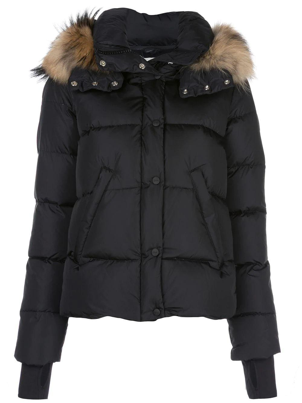 Anabelle Matte Down Jacket With Fur Hood