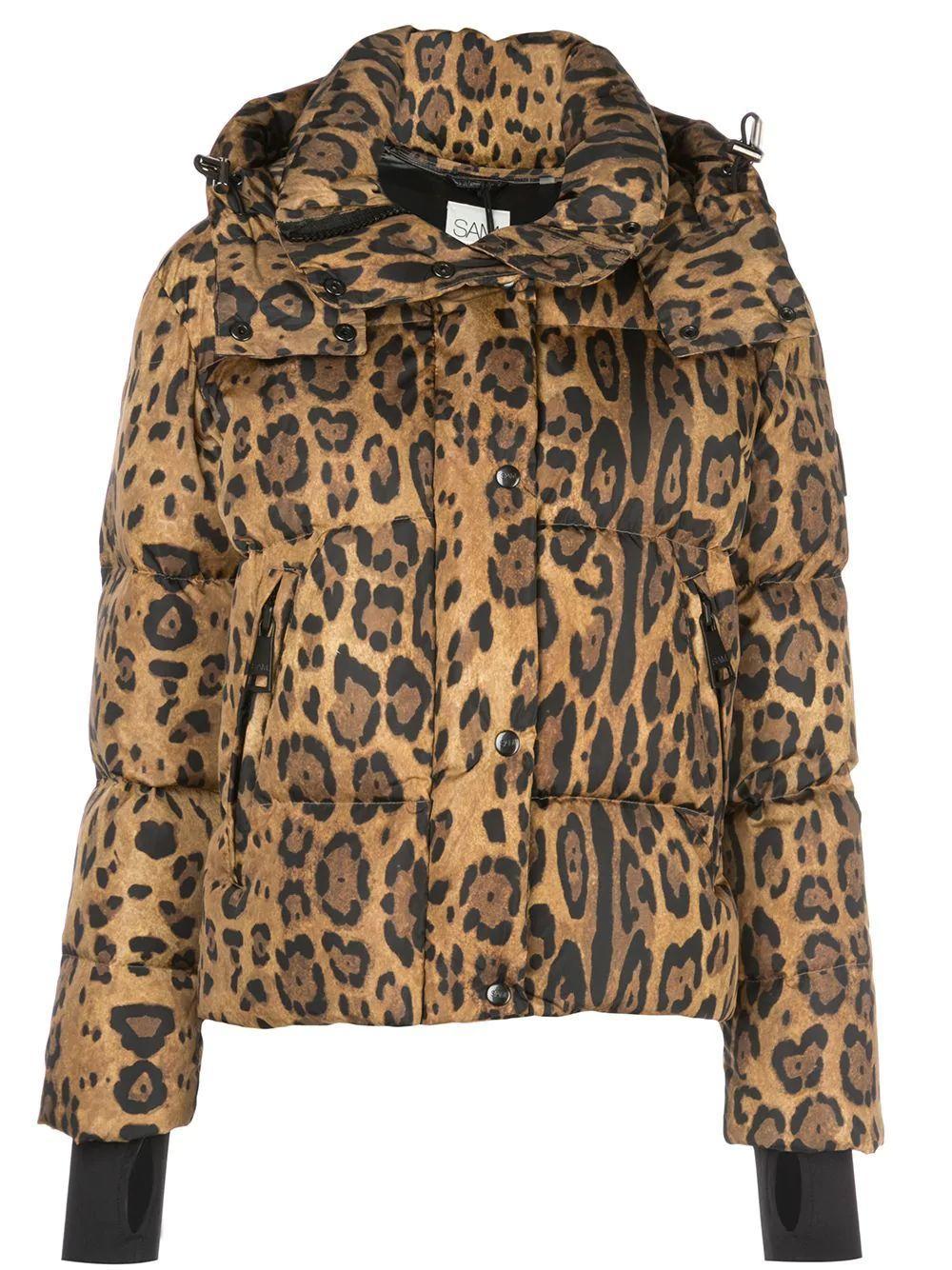 Elsa Leopard Down Puffer Jacket