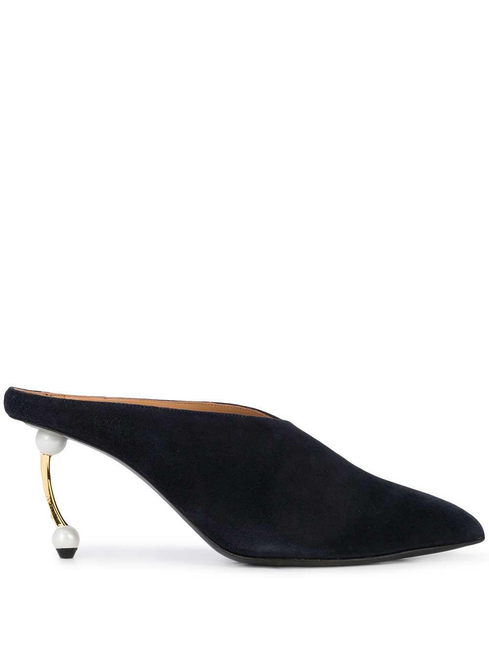Suede 75mm Mule With Pearl Heel Item # CL19I2056