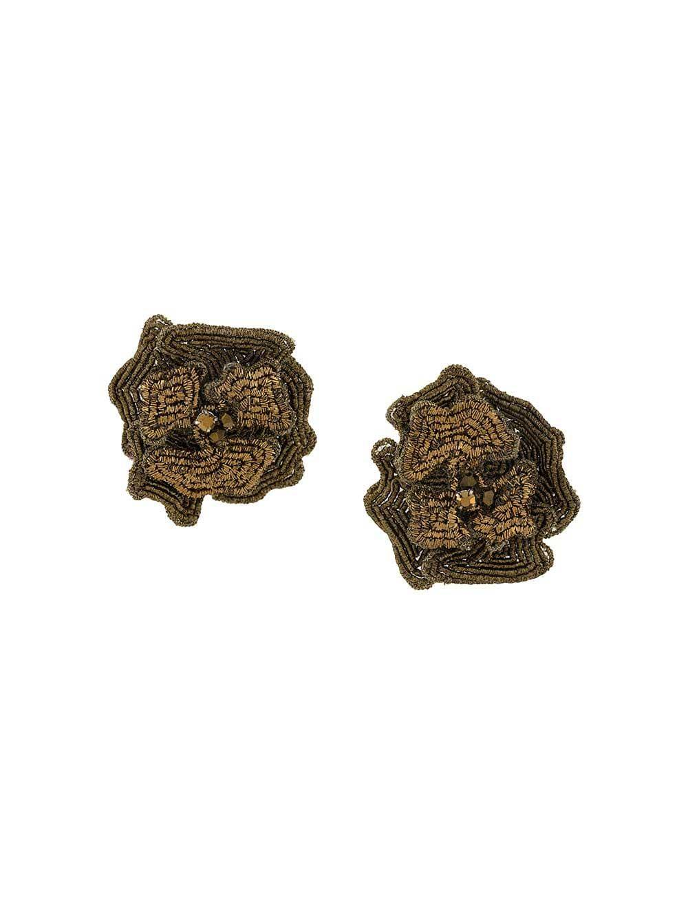 Adrianna Flower Stud Earrings Item # E291-033