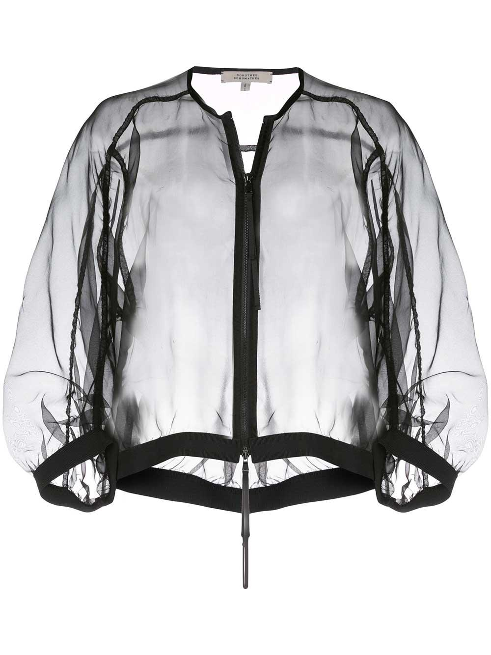 Transparent Volume Sheer Bomber