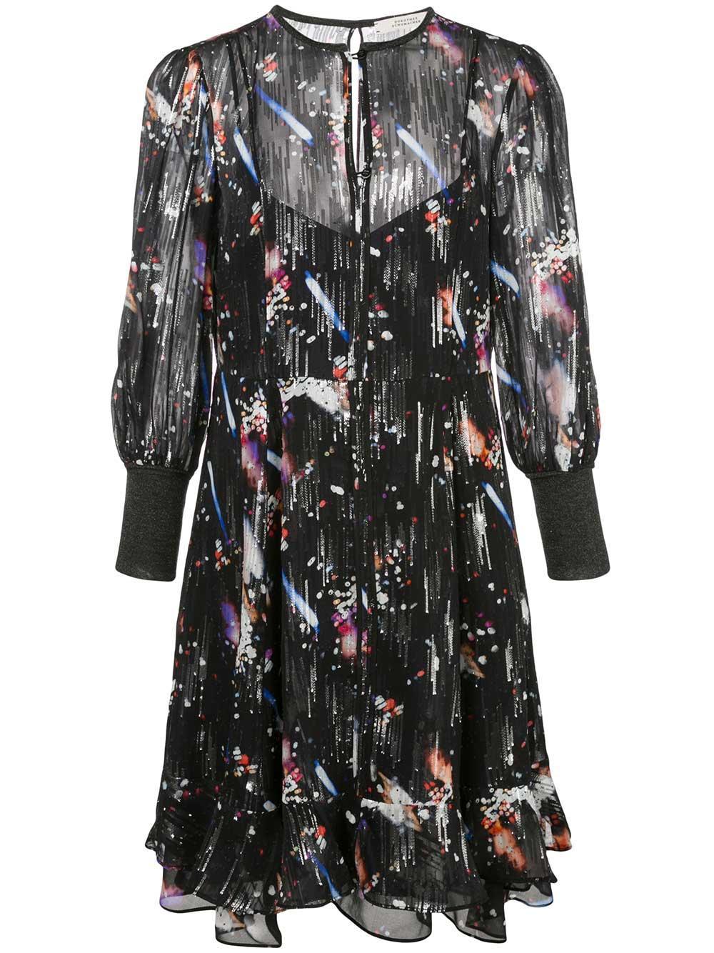 Tokyo Lights Metallic Dress