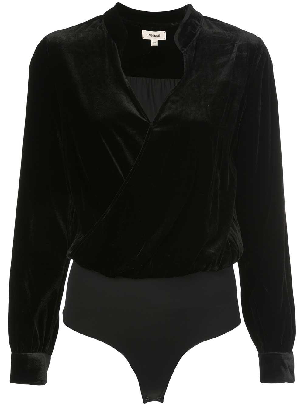 Marcella Velvet Bodysuit Item # 4849VSR
