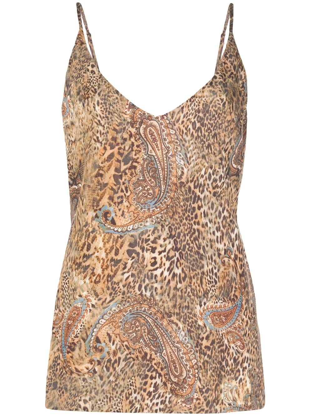 Gabriella Animal Print V Neck Tank