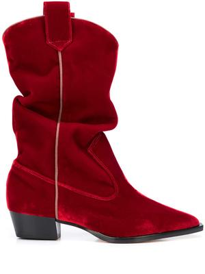 Slouchy Velour Cowboy Boot