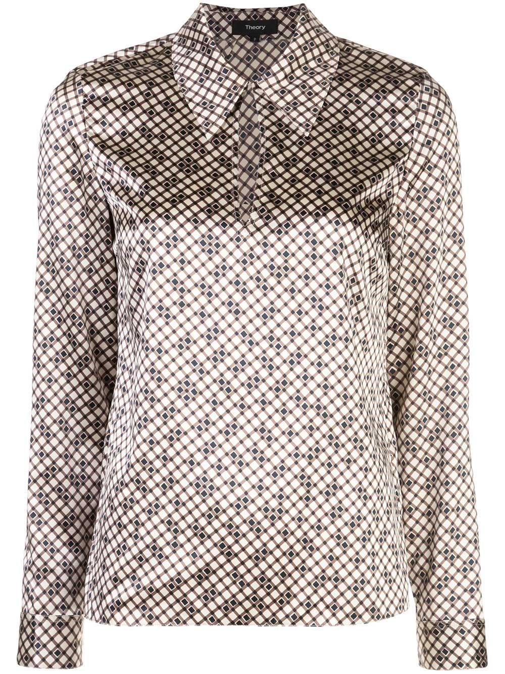 Wide Collar Printed Top Item # J1002501