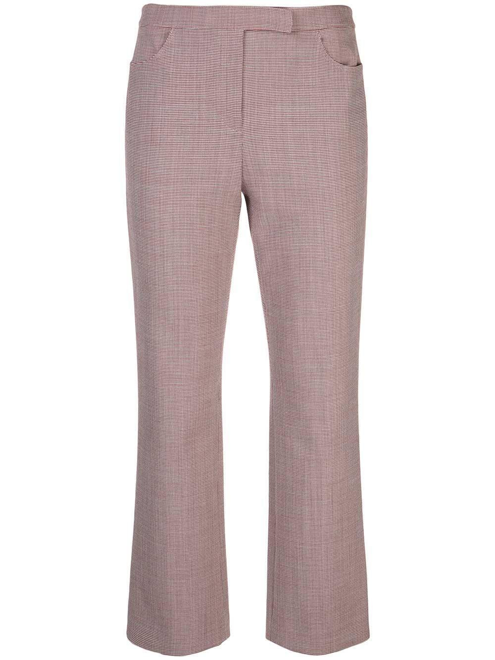 Cropped Pant In Houndstooth