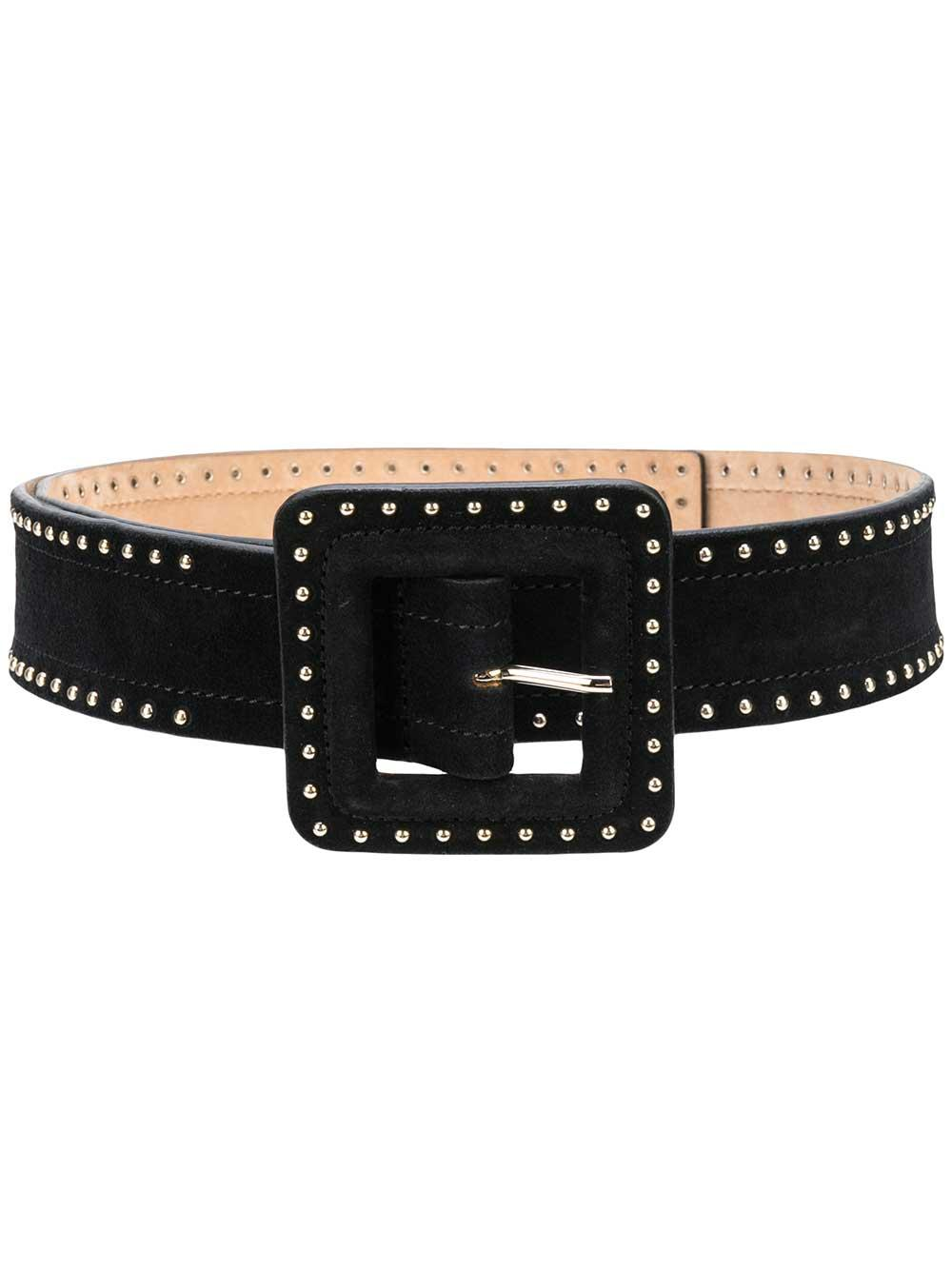 Aluma Suede Belt With Square Buckle