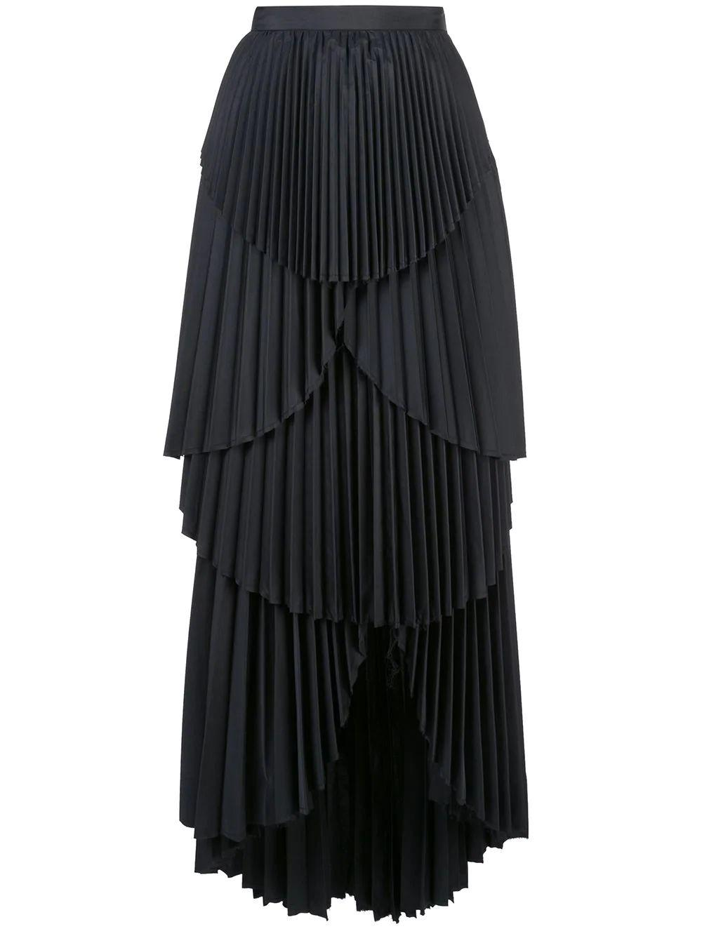 Ophelia Long Pleated Skirt