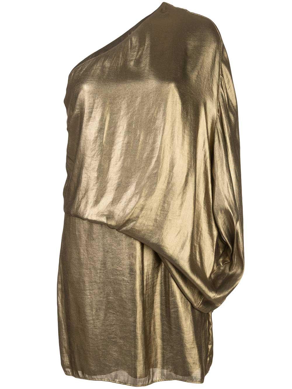 Metallic Drape Dress Item # 1012285
