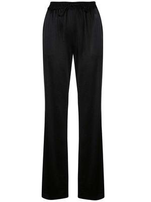 Hammered Satin Drawstring Track Pant