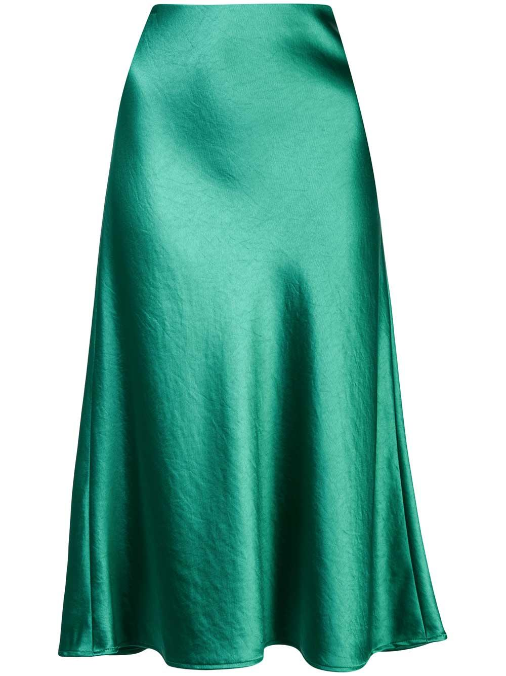 Mila Hammered Satin Bias Slip Skirt