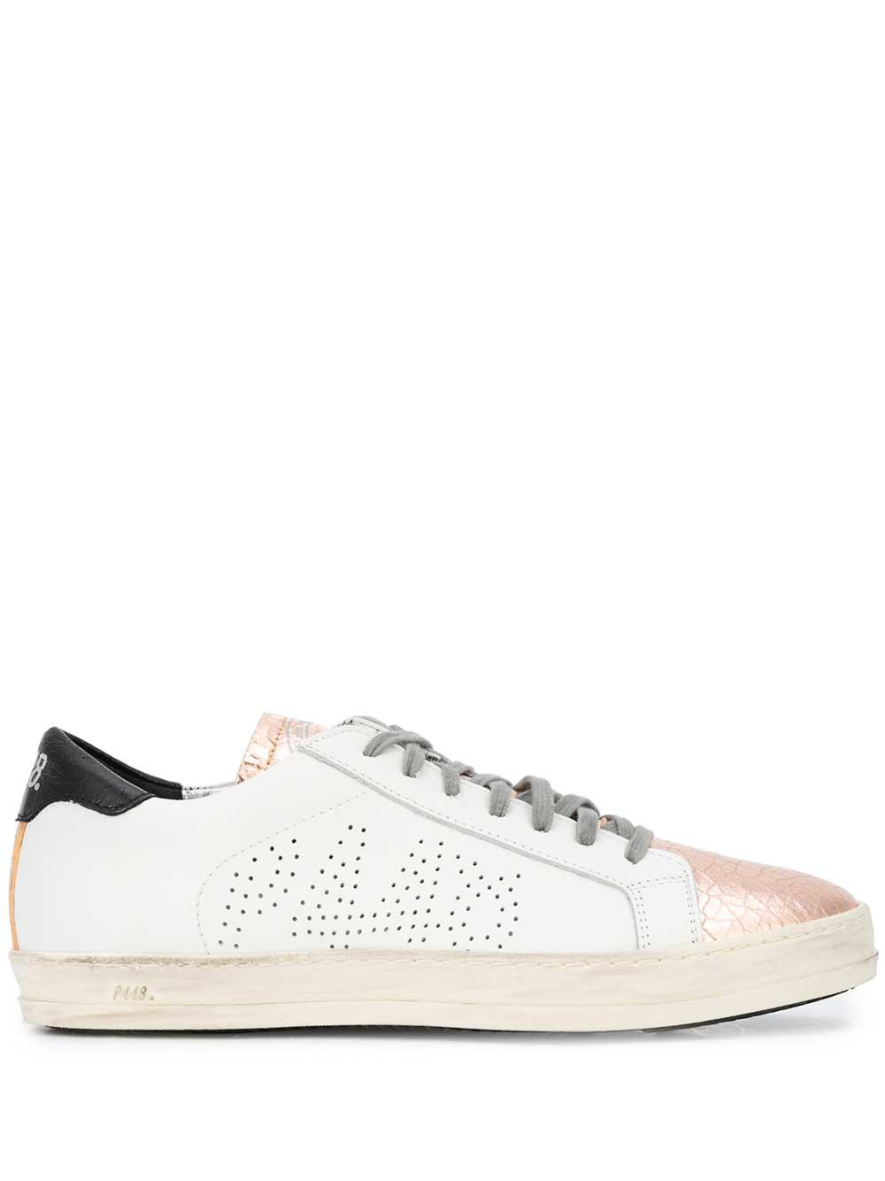 P448 Perforated Sneaker With Crackle Tongue