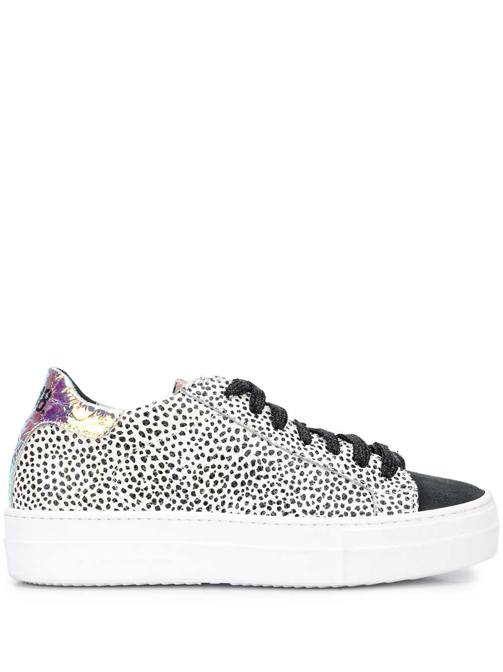 Animal Print Sneaker With Metallic Tab
