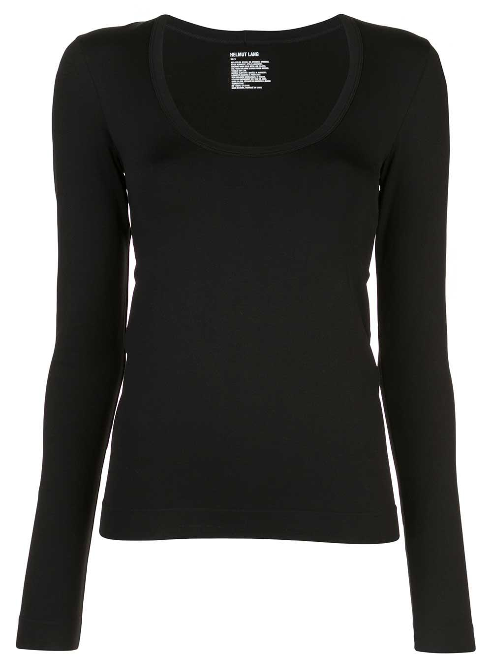 Scoop Neck Long Sleeve Jersey Tee