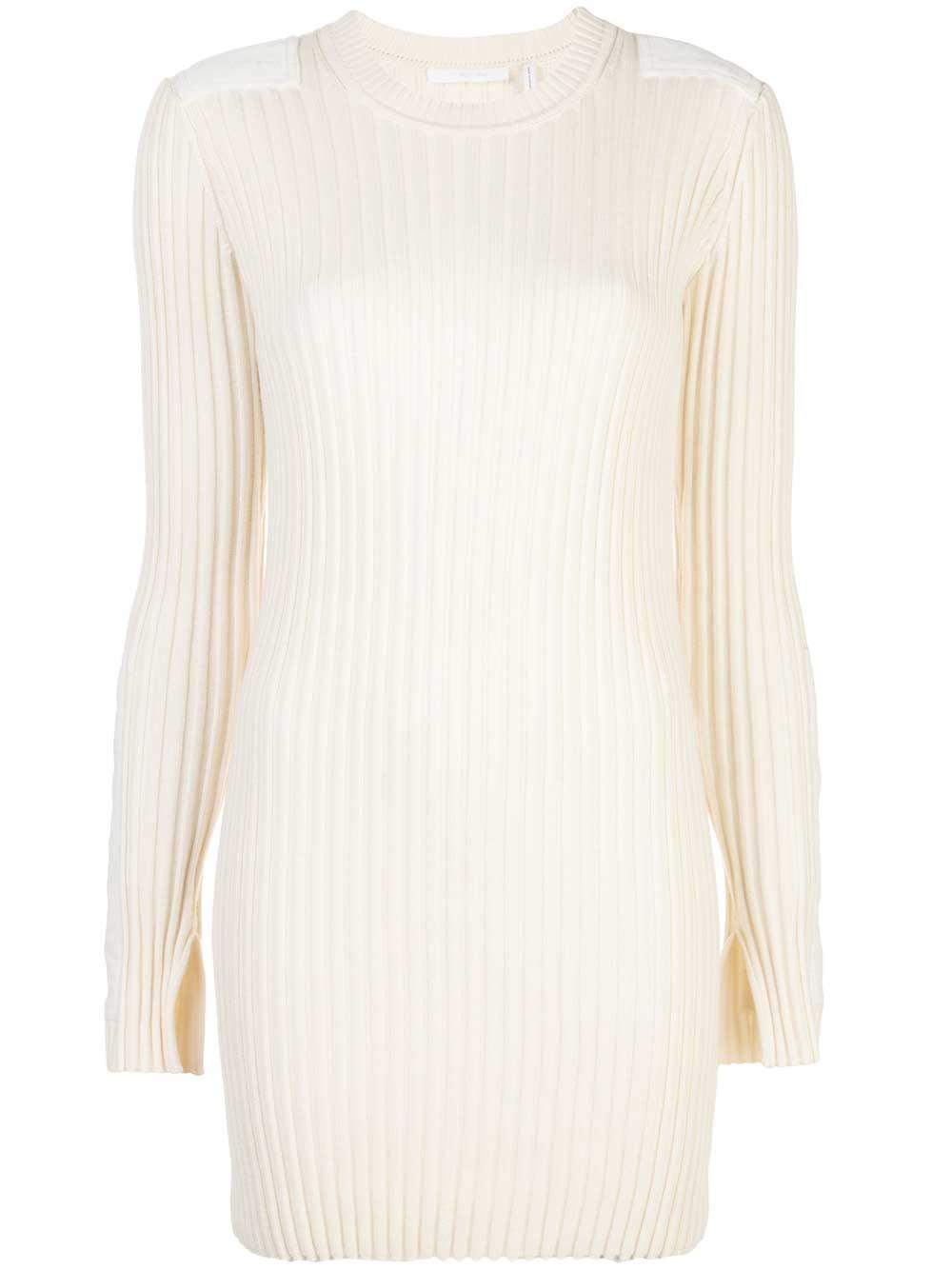 Patch Cotton Cashmere Dress