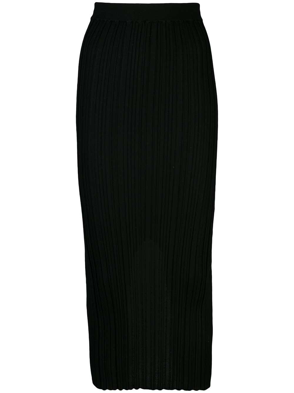 Fine Wool Rib Skirt
