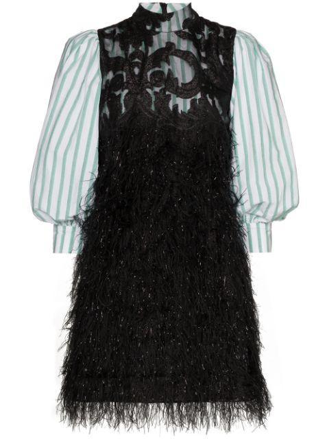 Feathery Cotton Mix Media Dress