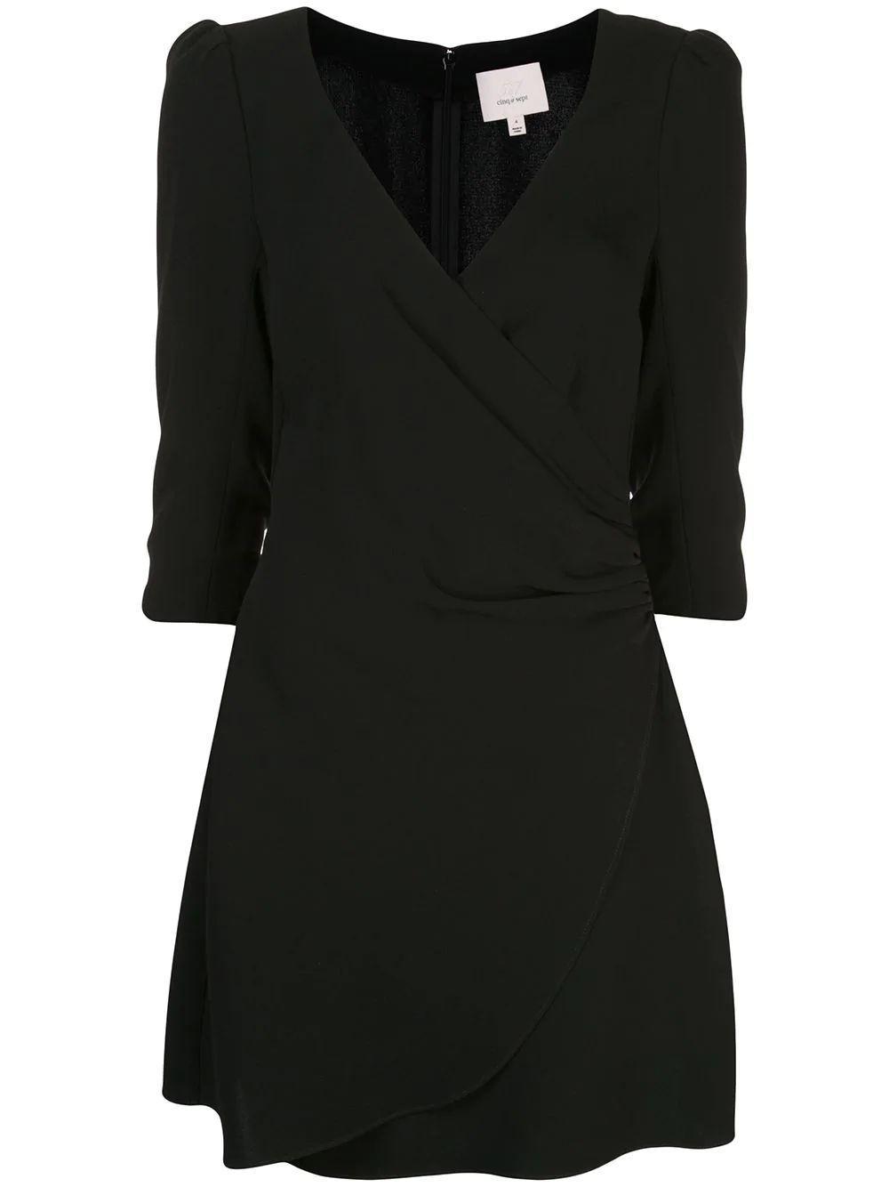 Theo Wrap 3/4 Sleeve Dress Item # ZD10151319Z