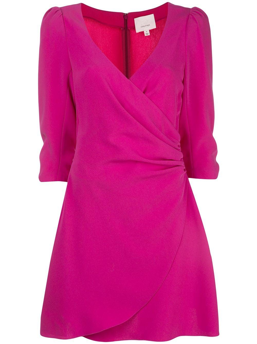 Theo Wrap 3/4 Sleeve Dress