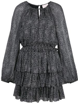 Annabel Print Ruffle Tier Mini Dress