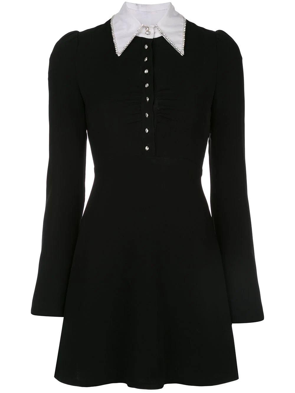 Aubrey Button up With Collar Long Sleeve Dress