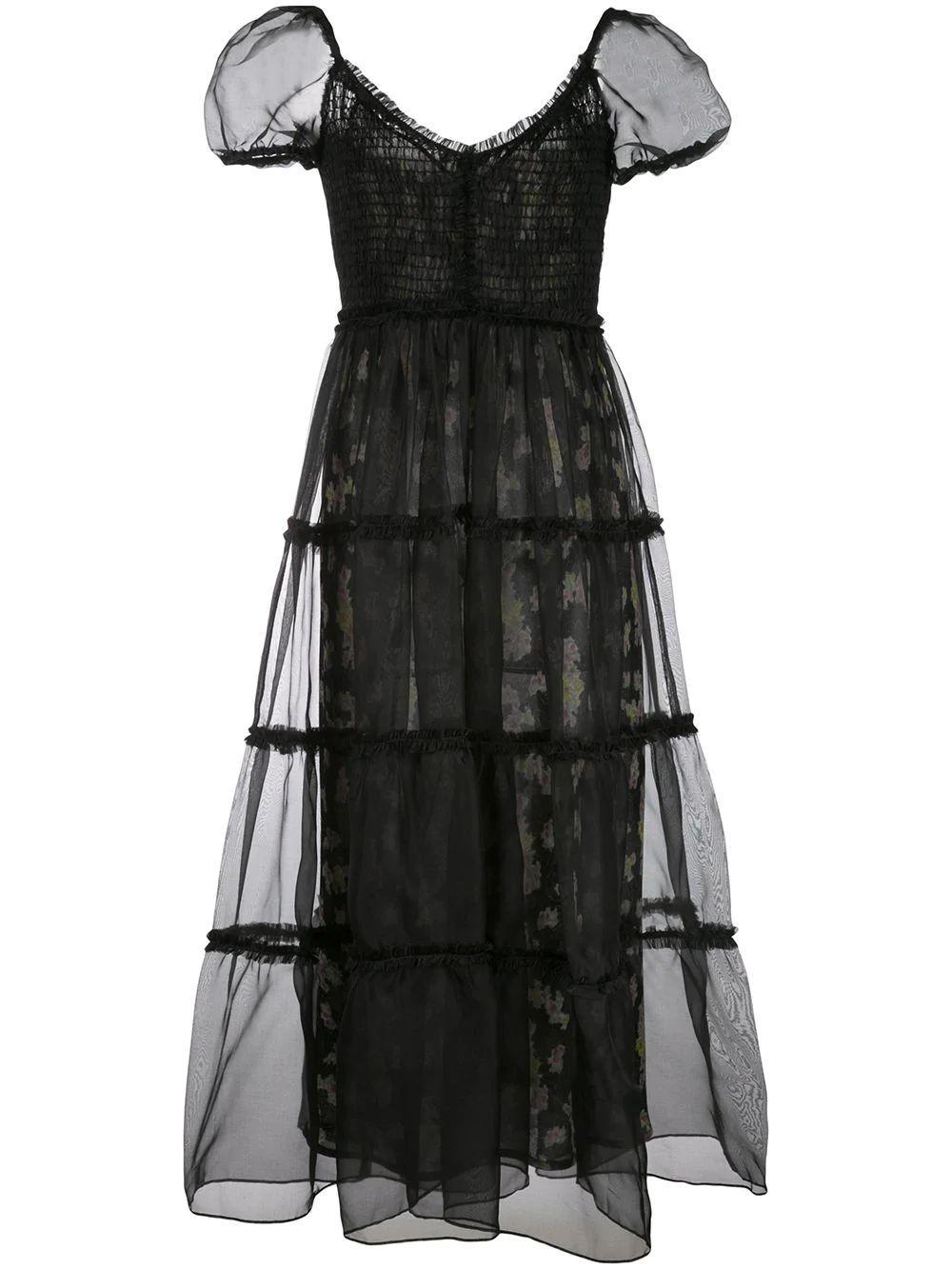 Quinn Smocked Cap Sleeve Midi Dress Item # ZD11132462Z