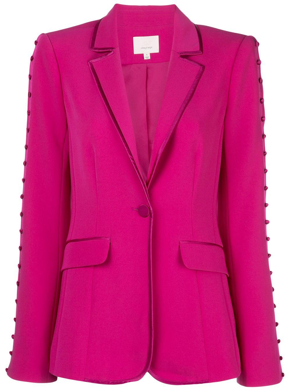 Vivi Button Knot Trim Blazer