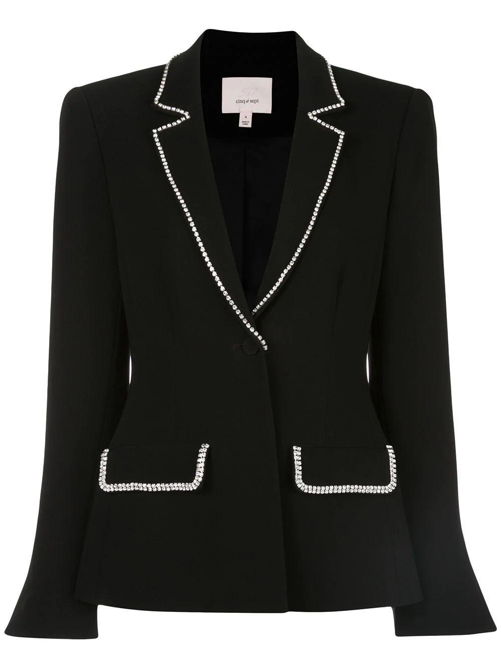 Yumi Rhinestone Detail Blazer Item # ZJ3051319Z
