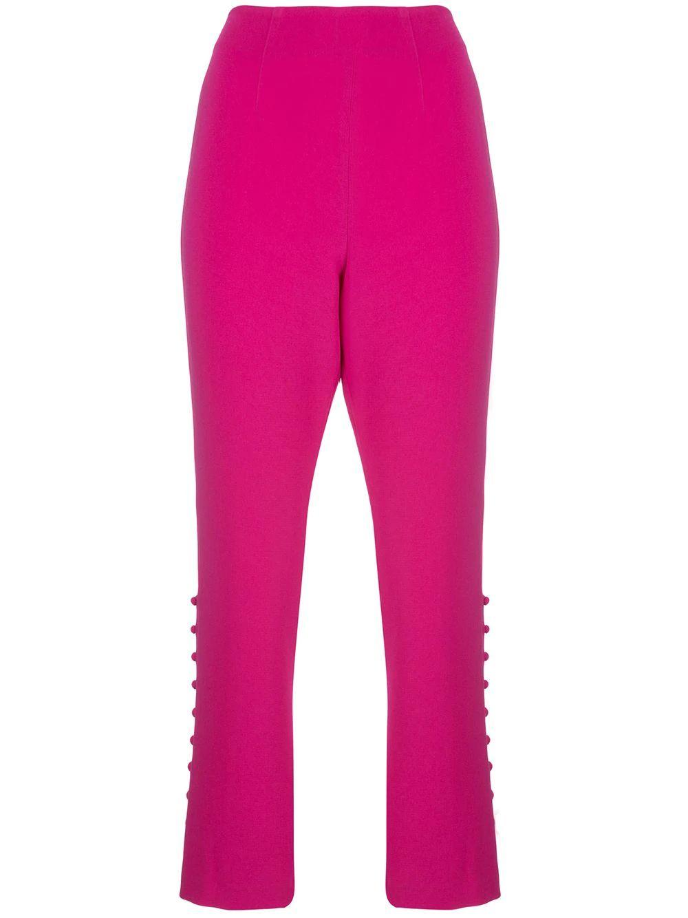 Lida Button Knot Detail Suit Pant