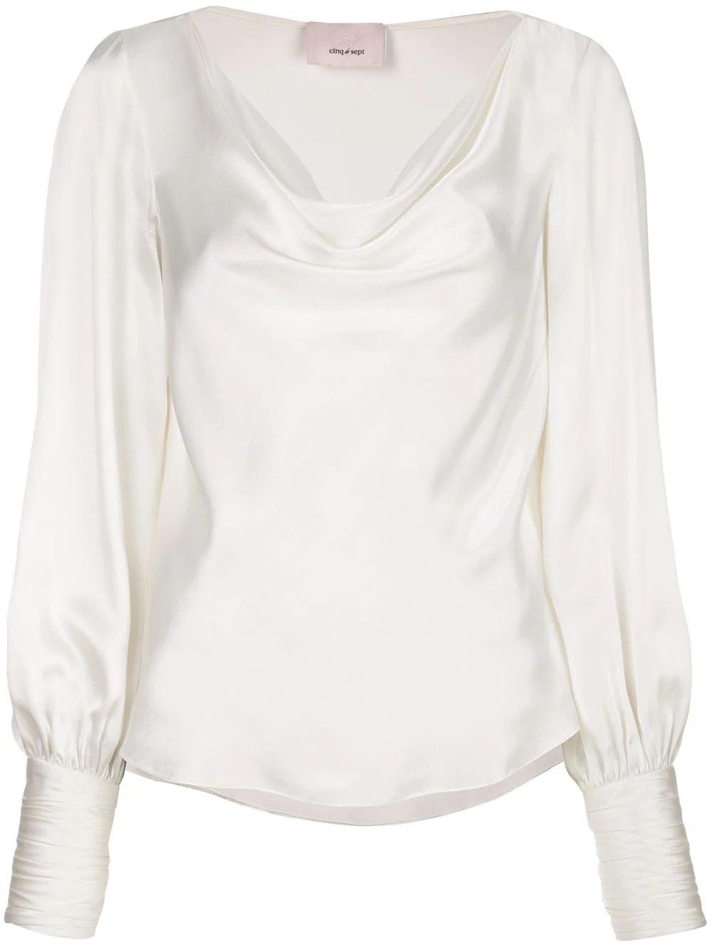 Taylee Silk Cowl Neck S/L Top