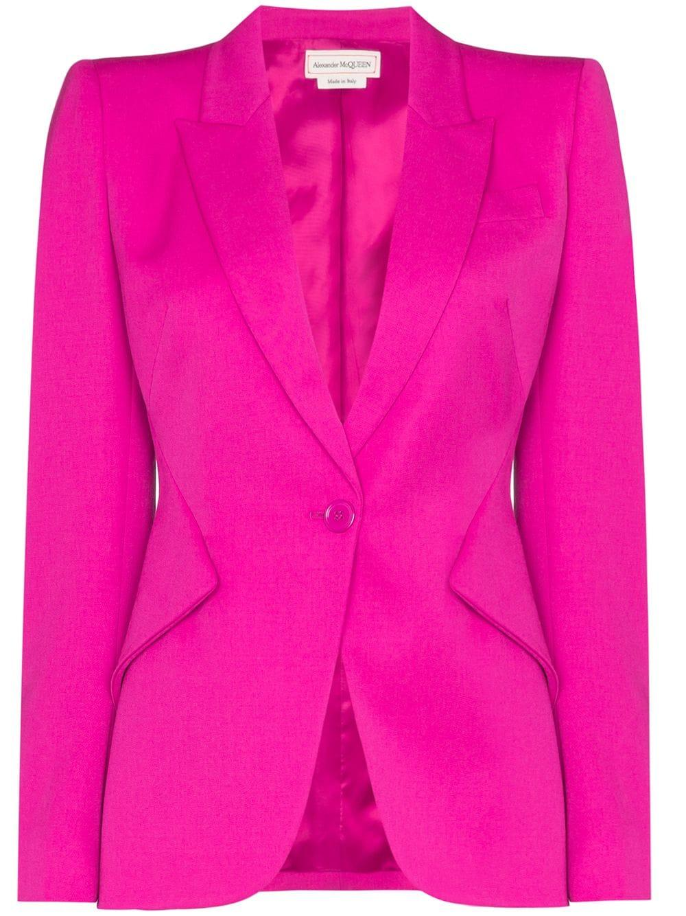 Wool Single Button Blazer
