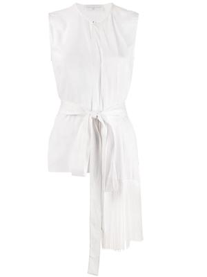 Sleeve Less Fringe Scarf Top