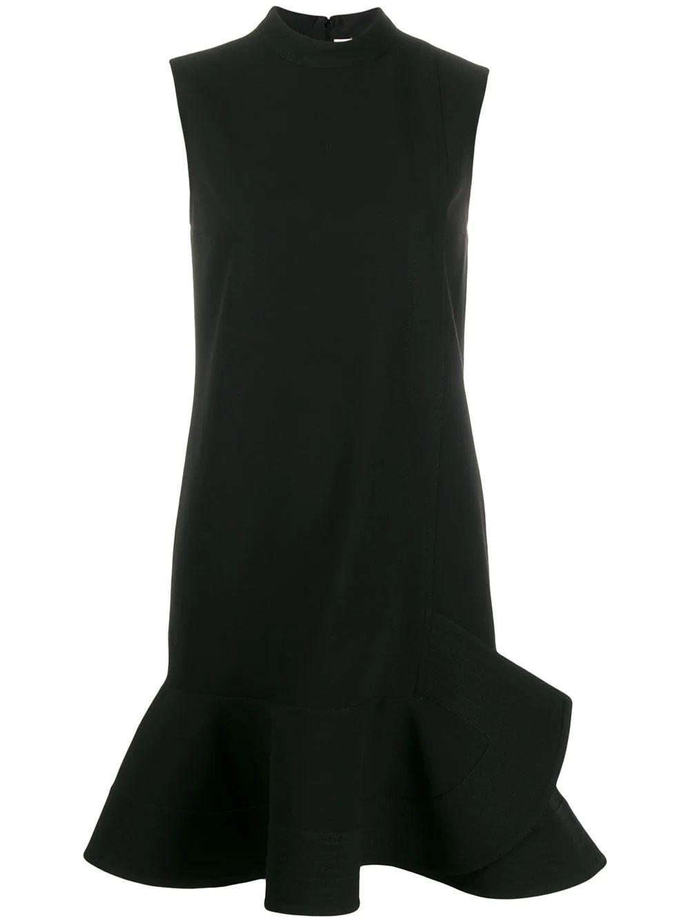 Sleeve Less Peplum Hem Dress