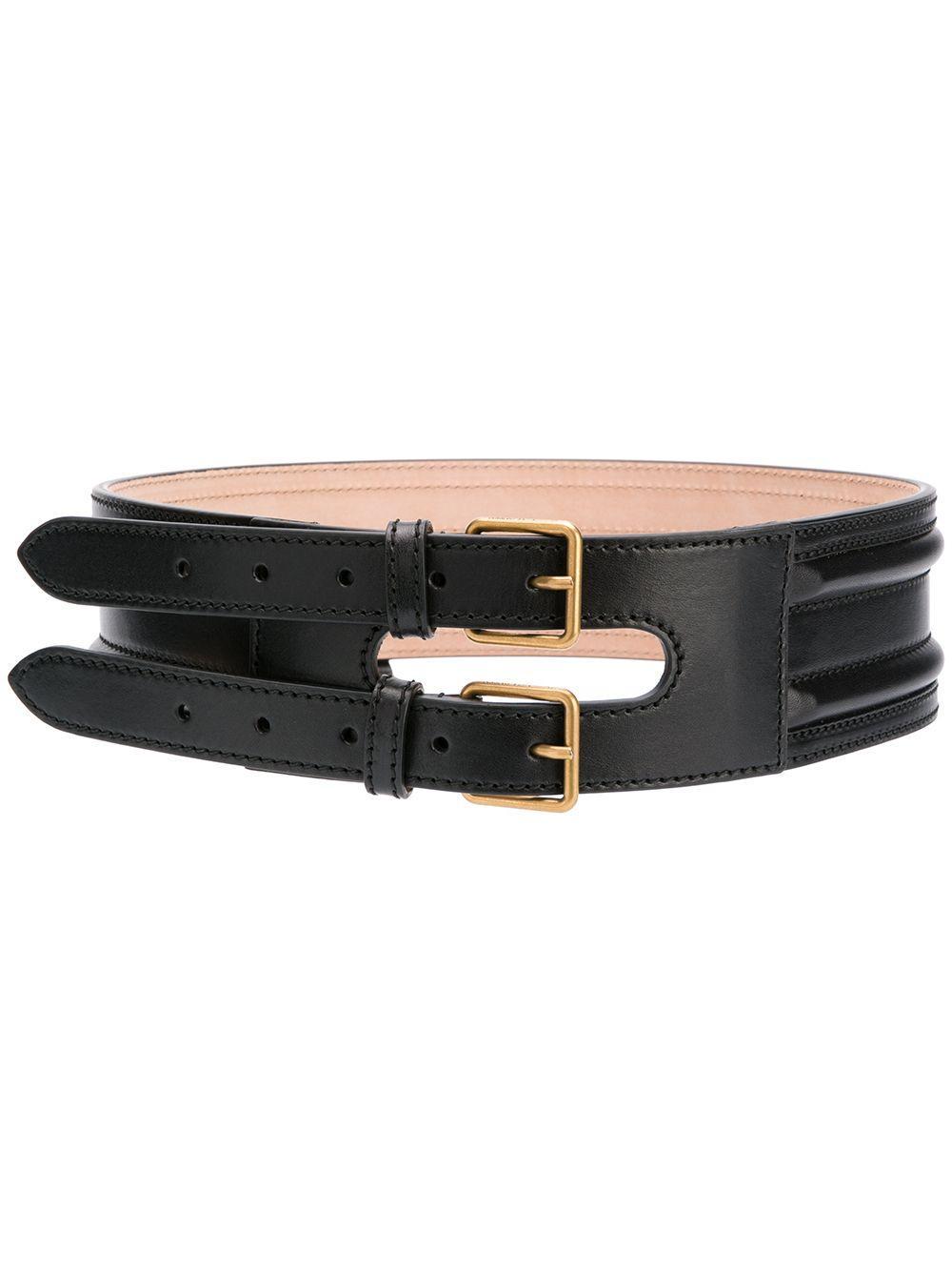 Double Buckle Belt Item # 6105451BR00