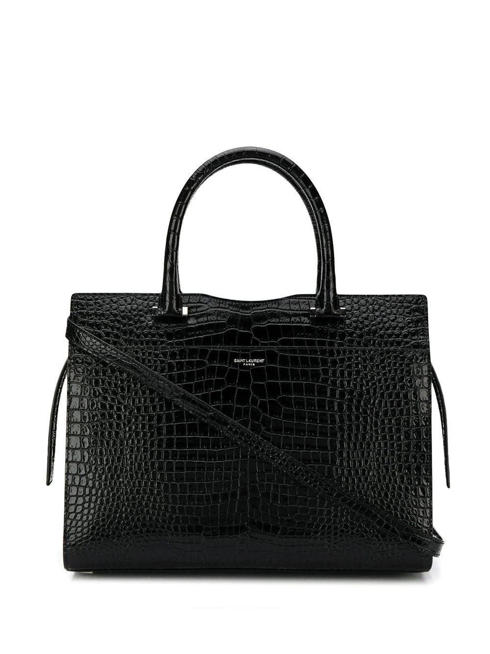 Uptown Croc Double Carry Bag