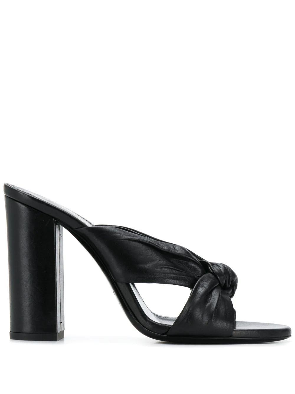 Loulou 100mm Block Heel Mule Sandal Item # 6085361N800