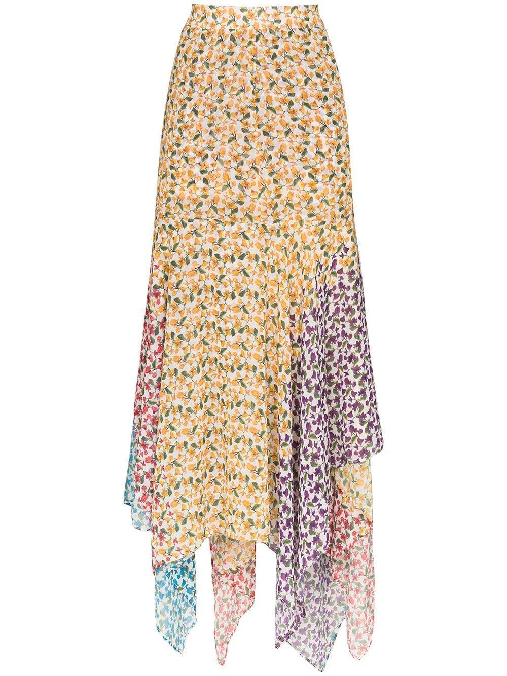 Elisa Printed Handkerchief Hem Skirt
