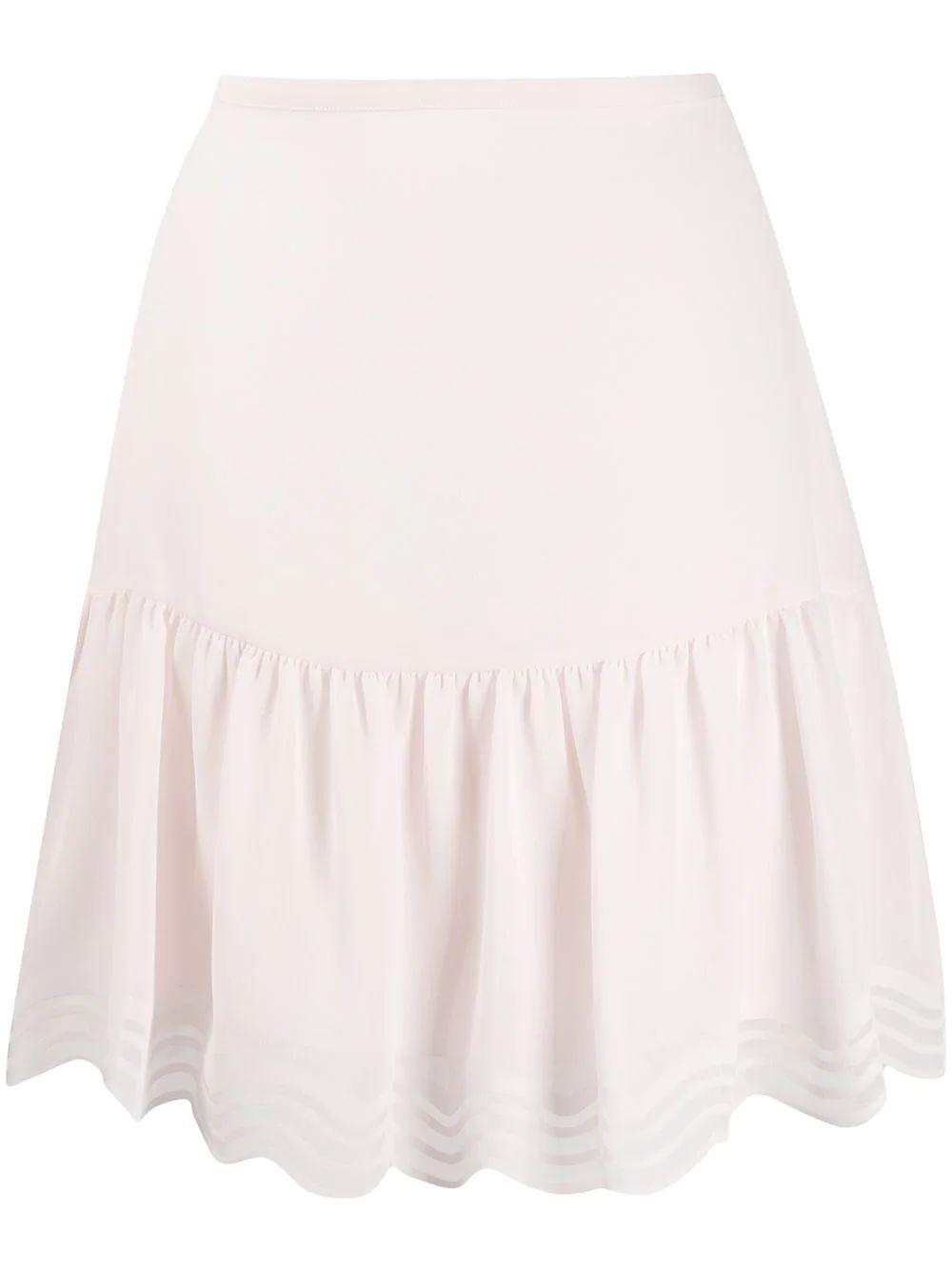 Laser Cut Georgette Skirt