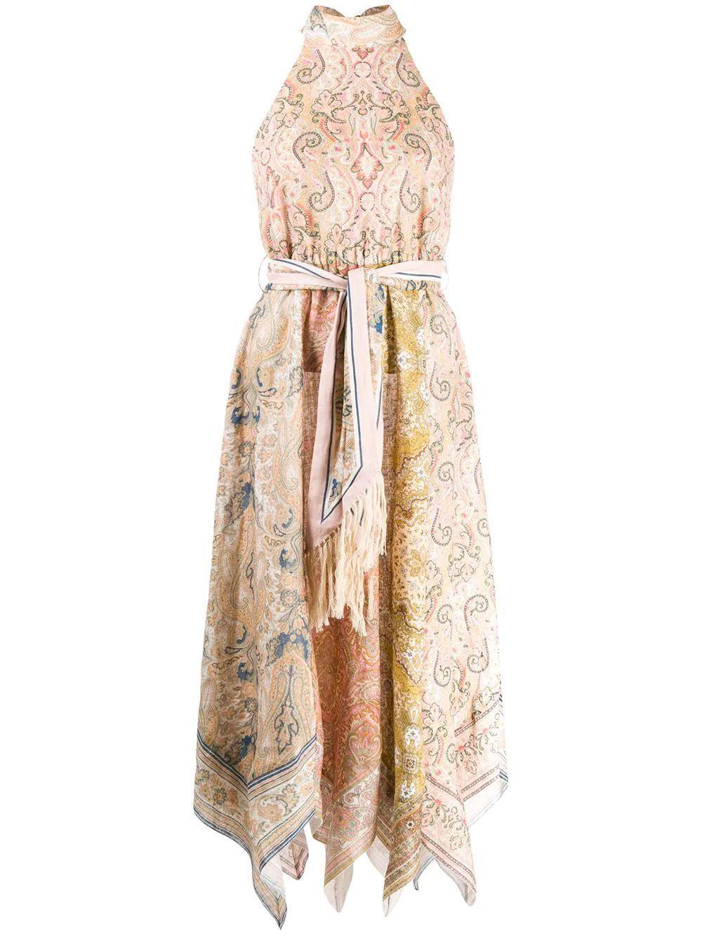 Freja Scarf Hem Long Dress Item # 7288DFRE
