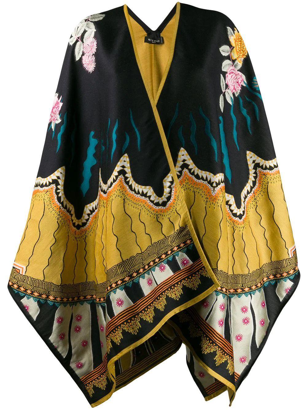 Poncho Wool Silk Item # 15024-9418
