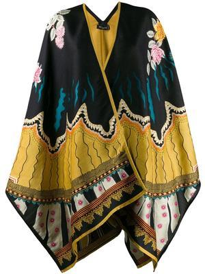 Poncho Wool Silk