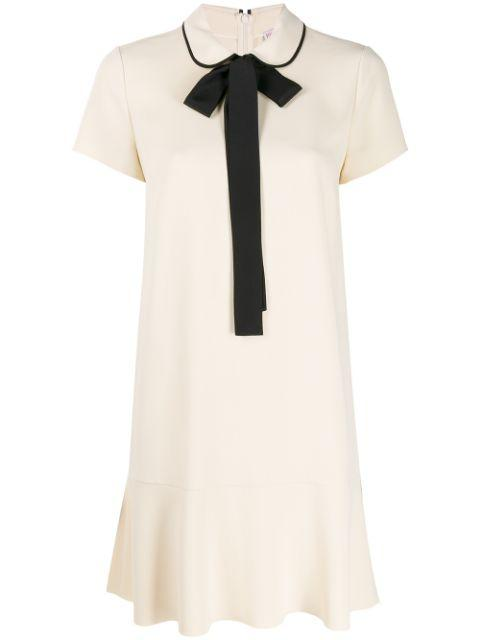 Short Sleeve Frisottine Dress