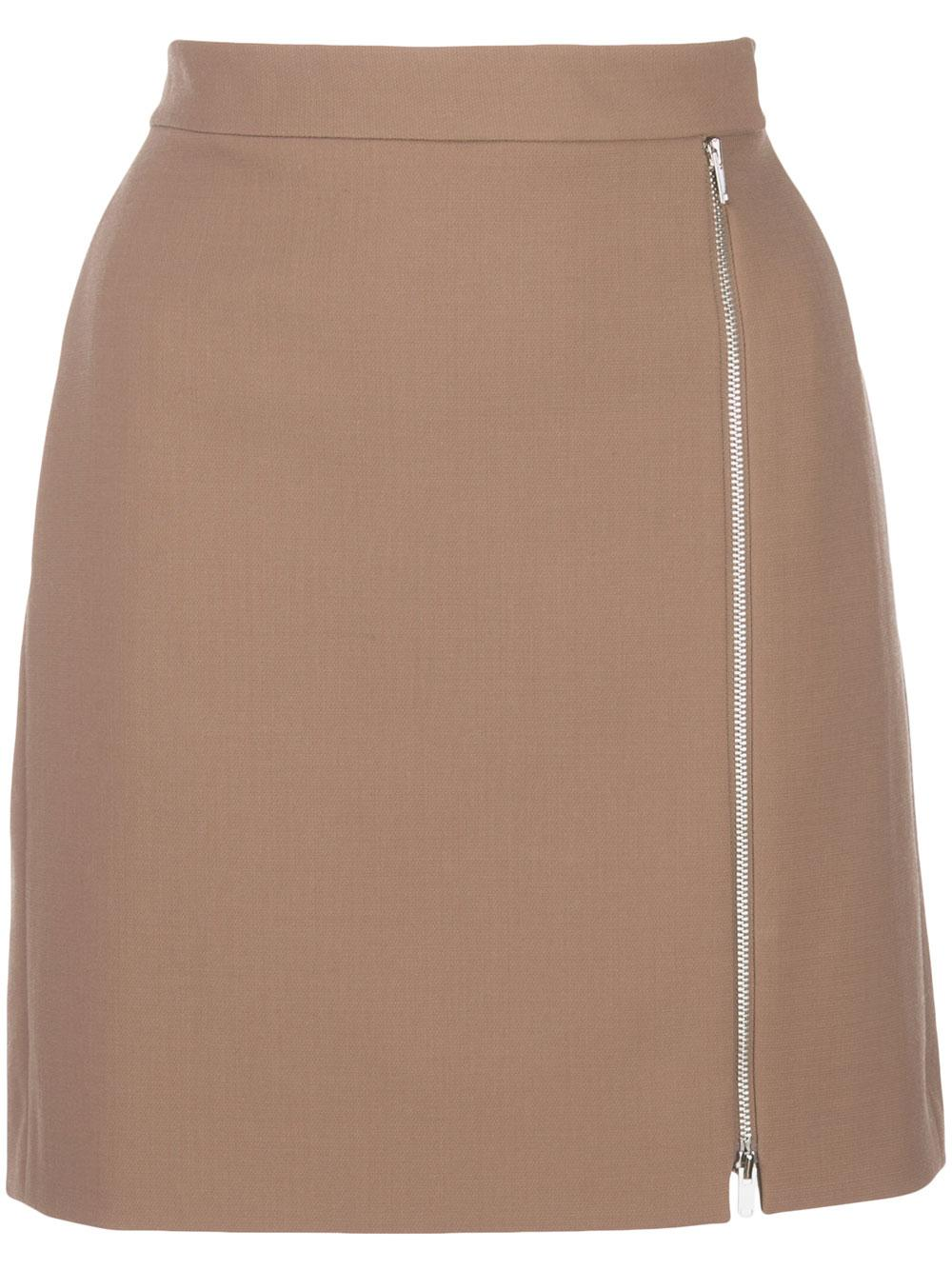 Zip Mini Skirt