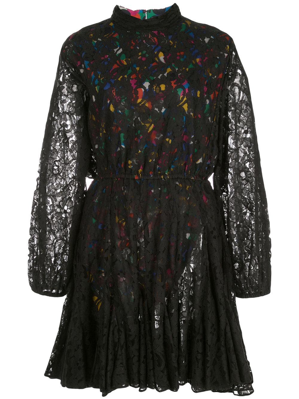 Caroline Mock Neck Lace Dress Item # H19DR07LAC