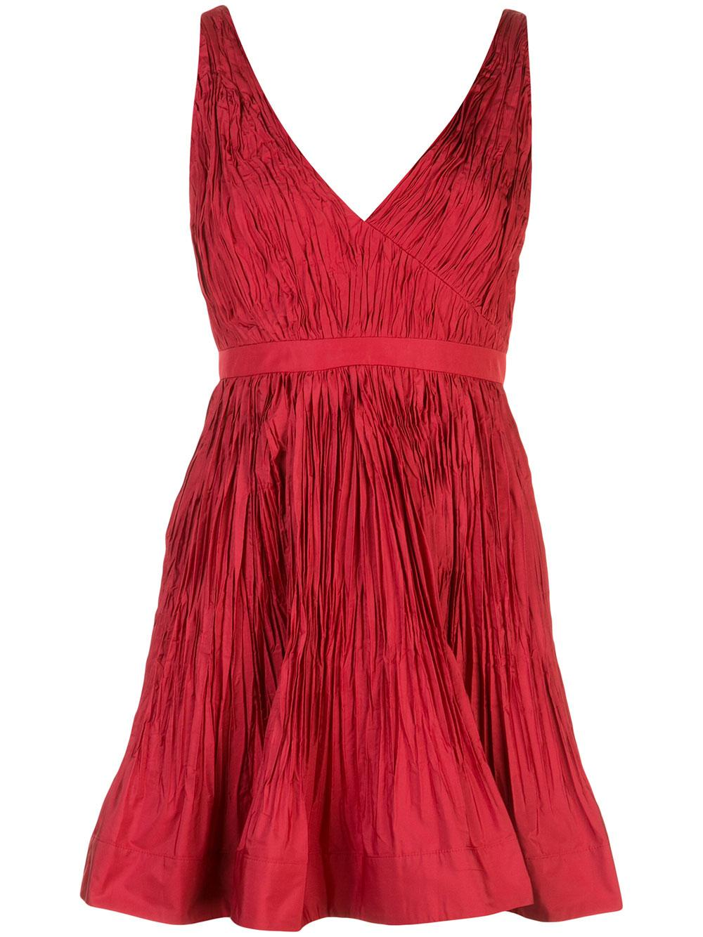 Marilou V- Neck Taffeta Party Dress Item # MARILOU