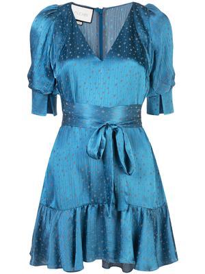 Vanezia Tie Waist Ruffle Hem Dress