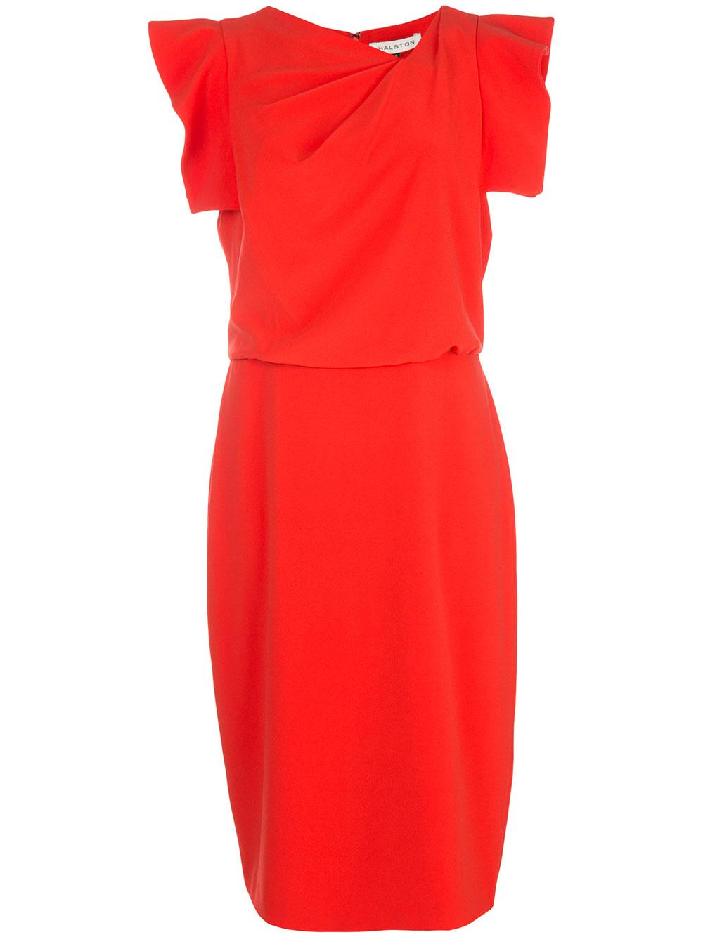 Asymmetric Neckline Ruffle Dress Item # 2011009