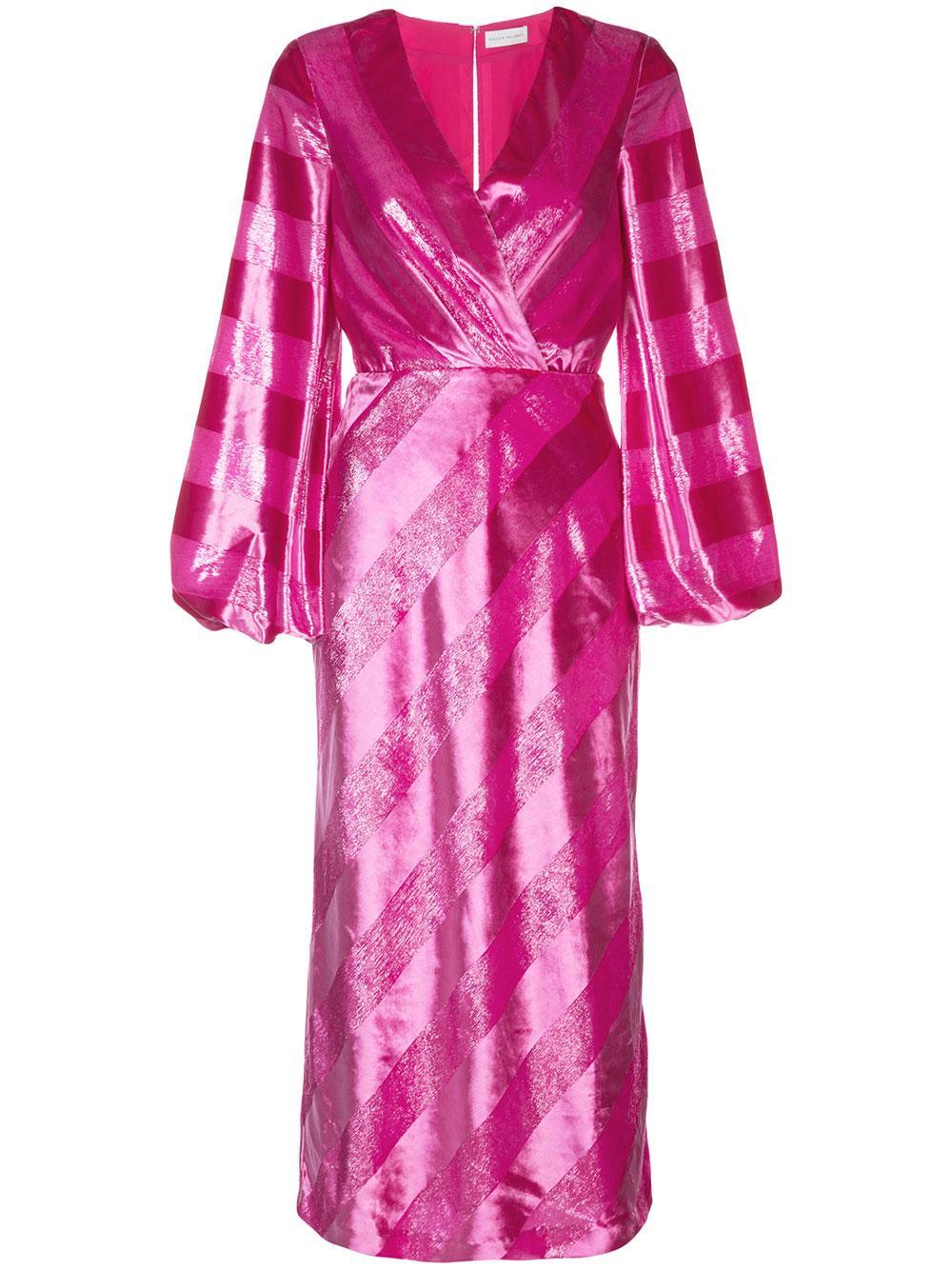 Maison Plunge Shadow Stripe Dress Item # 1904-1599